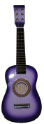 New Mini Childrens Toy 60cm Acoustic Guitar with Pick & Extra Strings - Purple
