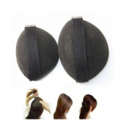 OUKIN 2pcs Black Sponge Hair Buns Accessories Swelling Curvature Volume Hair Base