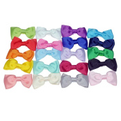 Baby girl None Slilp Tiebow Clips Headbands Mixed 20 colour