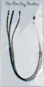 Feather Hair Extensions 3 Pack + Rings / Loop