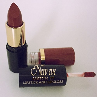 New Eve Trendy 2 in1 Match it BERRY Lipstick and Lip Gloss 15ml Cosmetic Duo Makeup