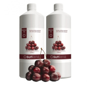 2000ml (2 x 1000ml) Suntana Cherry Medium 10% DHA Spray Tan Solution
