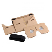 Caison - Google Cardboard Headset 3D Virtual Reality VR Goggles for Android Smart Phones iPhone + NFC and Head-strap
