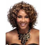 Highdas New Fashion Short Wig Curly Brown Synthetic Mix Hair Party Wigs For Women Girls