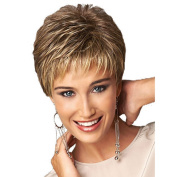Highdas New Fashion Short Wig Curly Gold Synthetic Mix Hair Party Wigs For Women Girls