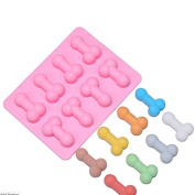 BESTIM INCUK Silicone Penis Ice Cube Chocolate Soap Tray Mould