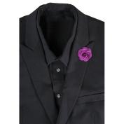 LEORX Camellia Boutonniere Lapel Pin Tie Brooch for Men