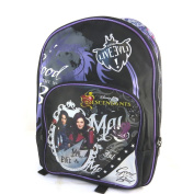 "Double backpack 'Descendants'black purple (40x30x18 cm (0.00""x11.81""x7.09"") )."