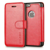 iPhone 5s Case,Mulbess [Layered Dandy][Vintage Series][Wine Red] - [Ultra Slim][Folio Wallet Case] - Leather Flip Cover With Credit Card Slot for Apple iPhone 5s iPhone 5