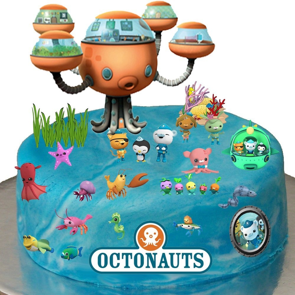 Stand Up Octonauts Cake Scene Premium Edible Wafer Paper Toppers