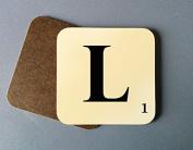 Individual Letter Coaster - Scrabble tile inspired design - Monogram/personalised