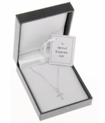 Child's Silver Plated Diamante Cross Necklace Equilibrium Keepsake Gift