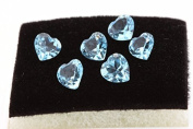blue Topaz (sky blue)-IF-VVS1. Heart (sold individually) Brazil, 5 mm
