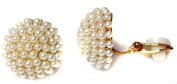 Classic Gold Tone Round Half Ball Pearl Girls Womans CLIP ON Earrings Studs
