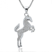 ladies. element sterling silver Cubic Zirconia horse pendant necklace, for women girls,