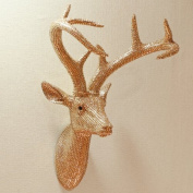 Star Studded Stag Wall Decoration Colour
