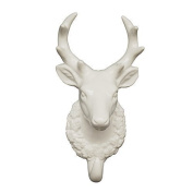 NEW White Porcelain Single Deer Stag Head Trophy with Hook
