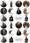 24 Game of Thrones Edible Wafer Paper Cup Cake Toppers