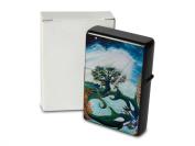 C. Krakowski Pocket Vintage Windproof Lighter Brushed Oil Refillable Dream Tree Orca Orca