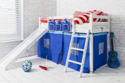 Cabin Bed Shorty 0.6m6 with Slide Junior Bed Ontario in choice of colours