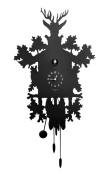 Diamantini & Domeniconi 45 x 88 x 10 cm Laser Cut Metal Cucu Cuckoo Clock, Black