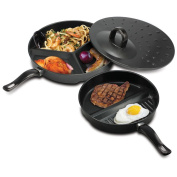 2 X Pan Set with Dividers and Ventilated pan Cover