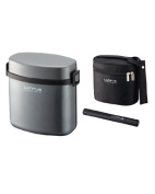 Asbel Lantus WS stainless thermal insulation lunch box HLB-W800 (with bag) metallic grey 3213