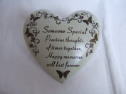 """Someone Special"" Love Heart Shaped Memorial Plaque"