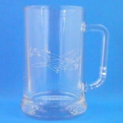 1 English Pint Glass Tankard With Lancaster Bomber Design