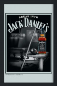 Empire Merchandising 537706 Printed Mirror with Plastic Frame with Wood Effect Featuring Jack Daniel's Whiskey on Billiards Table 20 x 30 cm