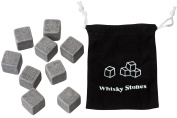 Whisky Stones with Silk Pouch and Gift Boxed 9 Set