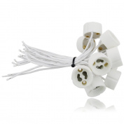 10x EVolution GU10 Ceramic Lamp Holder | Value Pack! | 0,75mm² silicon wire | for LED and Halogen