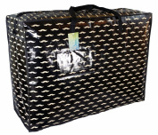 Extra Large storage bag 115 litres. Black with moustaches pattern. Toys, washing and laundry bag