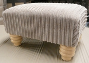 footstool/ pouffee in a mink jumbo cord fabric....also available in different coloured cords...just ask and we can make it for you