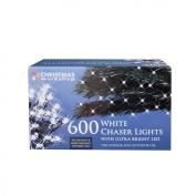 The Christmas Workshop 600 LED Chaser String Lights, Bright White