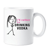 Ladies I'd Rather Be Drinking Vodka Mug Cup Gift Friend Christmas Birthday Gift