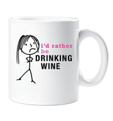 Ladies I'd Rather Be Drinking Wine Mug Cup Gift Friend Christmas Birthday Gift