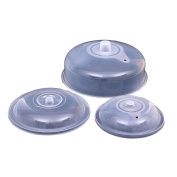 AmgateEu 3-Pack(18cm +20cm +25cm ) Microwave Food Plate Cover | Vented Splatter Cover