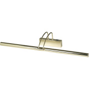 THLC Low Energy Picture Light In Polished Brass with On / Off Rocker Switch
