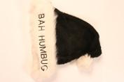 """Santa Hat Plush Black """"Bah Humbug"""""""