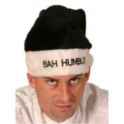Bah Humbug Hat Black & White Velvet