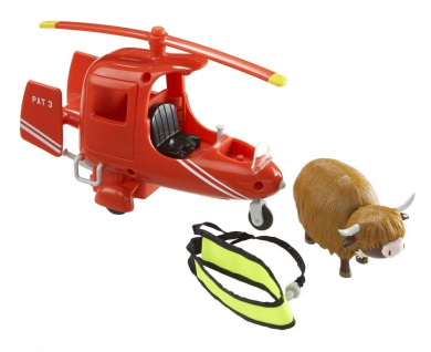 Character Postman Pat Deluxe SDS Helicopter with Runaway Cow