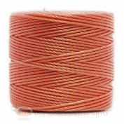 77 Yds. Super-Lon Cord #18 Coral Pink Beading Crafting Stringing Crochet