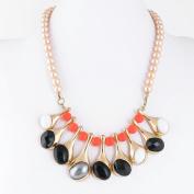 1 PCS Fashion Jewellery Necklace Long Chain Pendent Sweater Collar Bib Choker Collier Colourful Rhinestone Drop