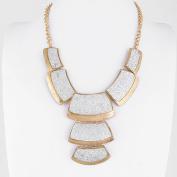 2 PCS Fashion Jewellery Necklace Long Chain Pendent Sweater Collar Bib Choker Collier Multi Trapezoid