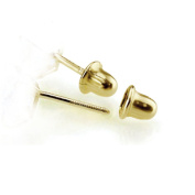 14K Yellow Gold Earring Backs Only, Pairs Screwback - Yellow Gold
