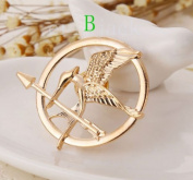 Hunger Games Katniss Everdeen Cosplay Costume Mockingjay Pin Brooch Badge 40mm