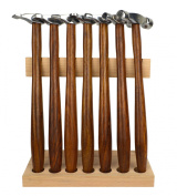 7 Piece Professional Hammer Set w/ Wooden Stand for Jewellery Making Forming Texturing Watch Repair Tool