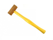 2.5cm - 0.6cm Extra Soft Non-coated Natural Rawhide Mallet Non-marring Jewellery Tooling Hammer