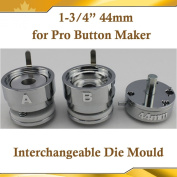 """Round 44mm 1-3/4"""" Interchangeable Die Mould for New Pro Badge Button Maker"""